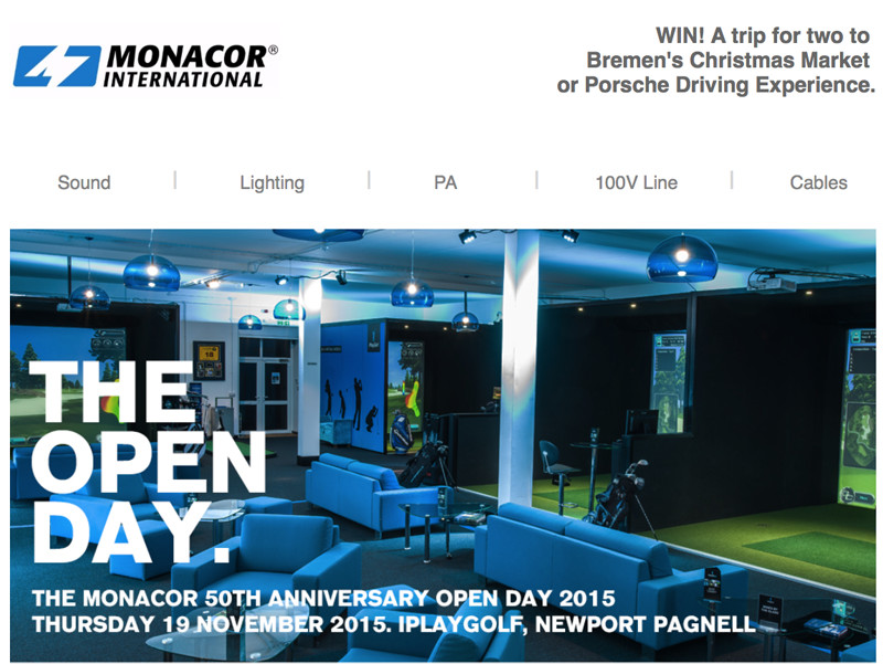 We Know AV - Monacor Open Day Image
