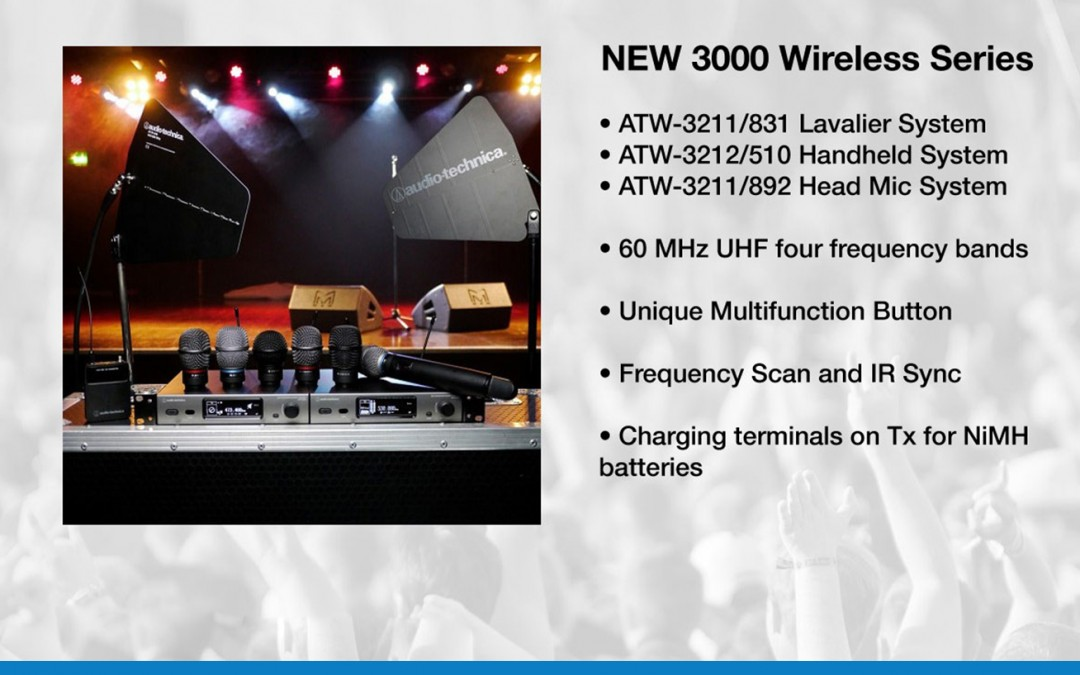 Audio Tecnica New 3000 Series Wireless – Available