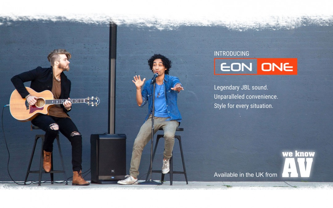 JBL EON ONE – Available from We Know AV Ltd