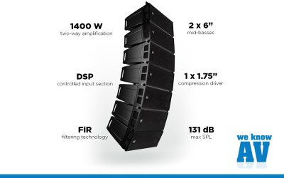 RCF Launch new HDL 6-A Line Array at ISE 2017